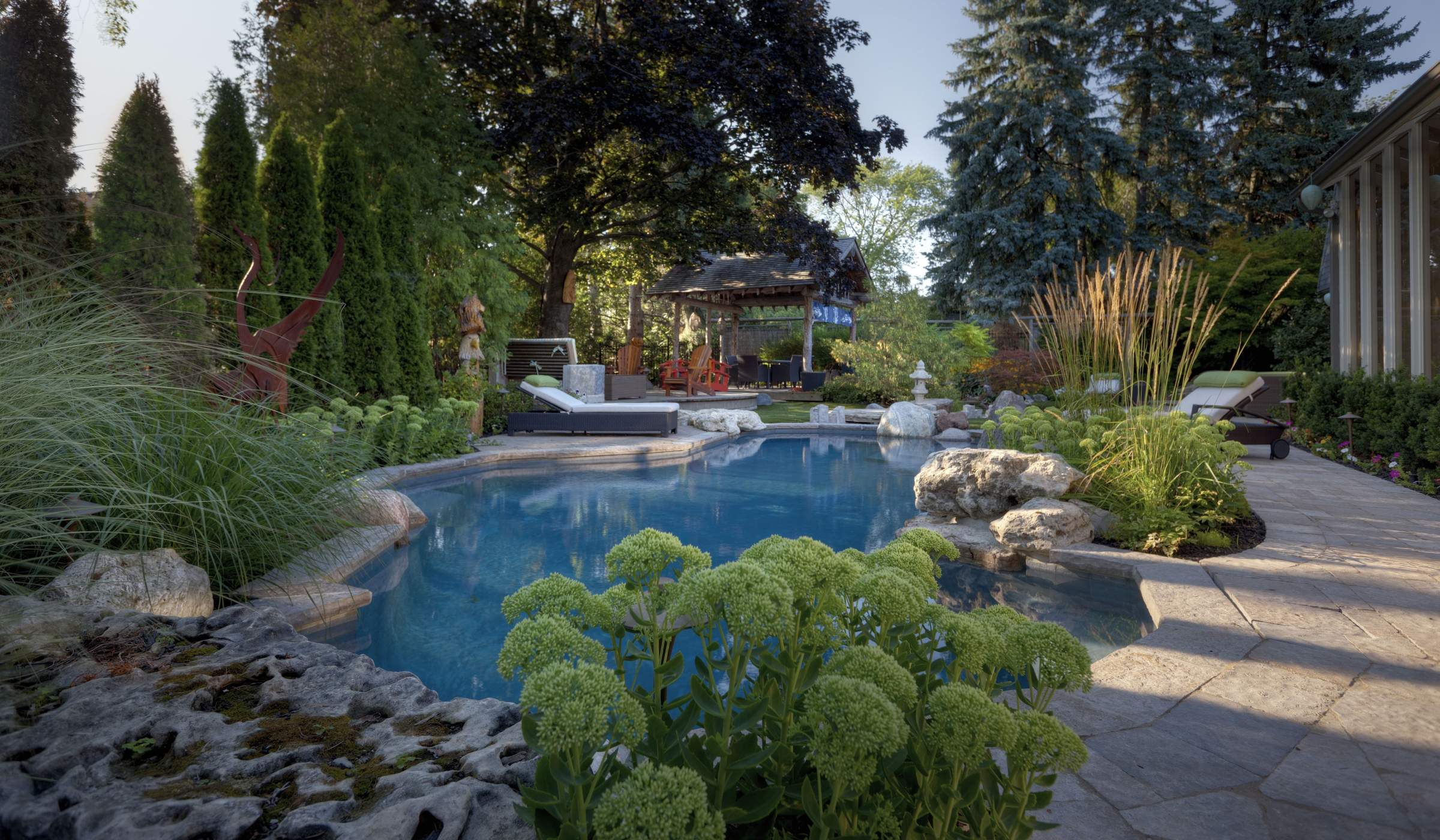 Landscaping betz pools for Award winning landscape architects