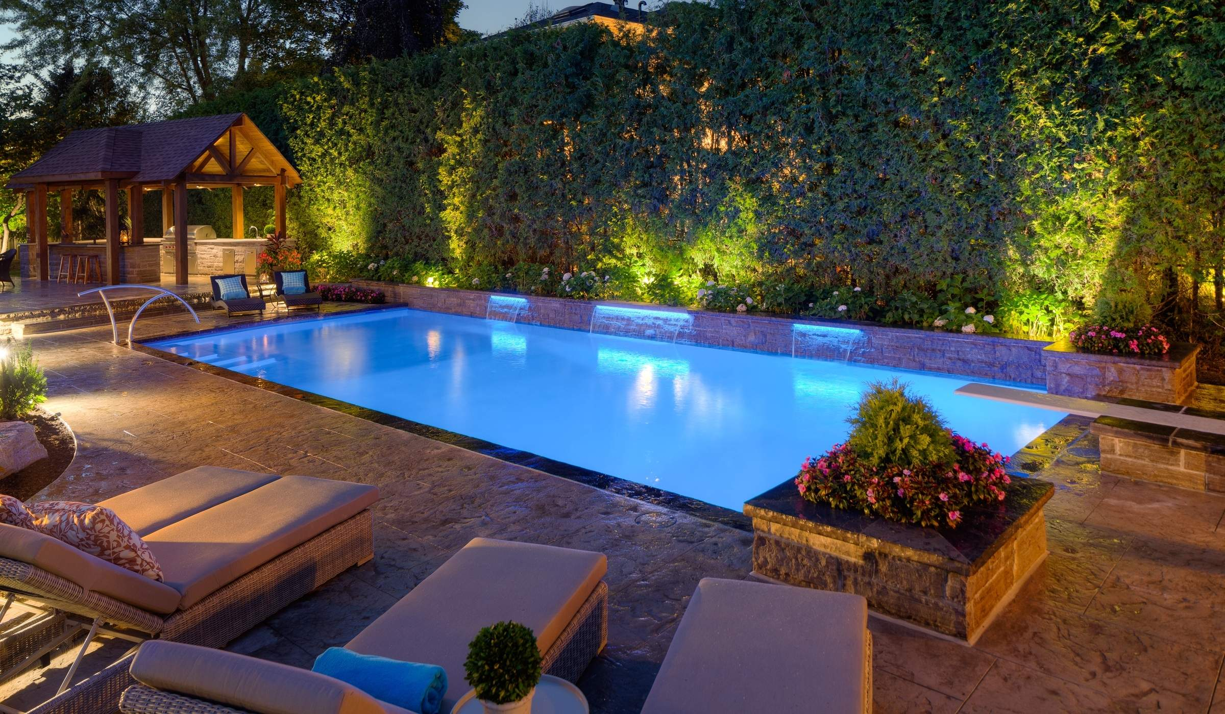 Landscape  Pool Lighting : Betz Pools